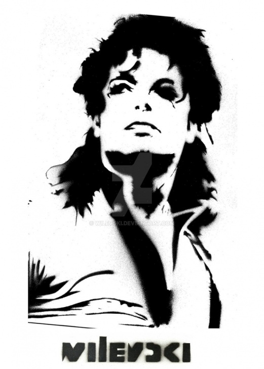 Awesome Michael Jackson Stencil Art Lessons Wilevski Stencil-Art Michael Jackson Dangerous By Wilevski On Deviantart Image