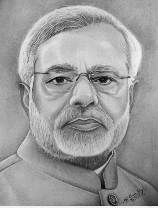 Awesome Modi Pencil Sketch Step by Step Narendra Modi Easy Pencil Sketch Photo