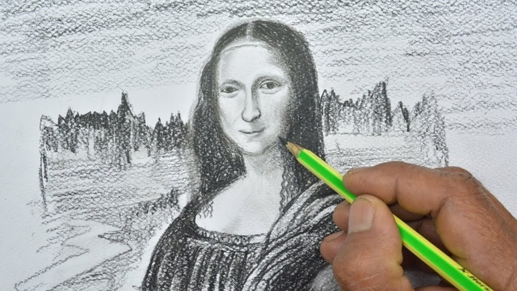 Awesome Mona Lisa Pencil Drawing Easy How To Draw The Mona Lisa With Pencil Pics