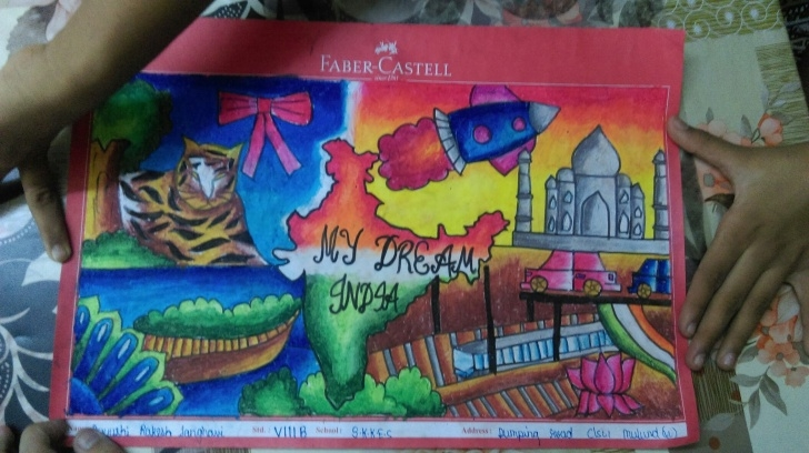Awesome My Dream World Pencil Drawing Free My Dream India Drawings For Competitions | India In My Dream In 2019 Pic