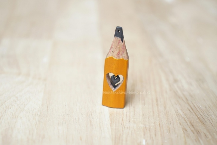 Awesome Pencil Carving Heart Lessons Mahesh Shiva Pencil Carving Art: Pencil Lead Heart Photos