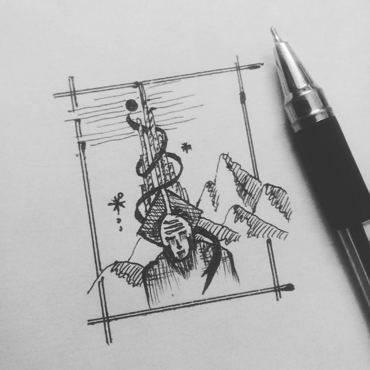 Awesome Pencil Doodle Art Free Pen&ink - #tabishereart #design #doodling #doodle #art #il… | Flickr Pics