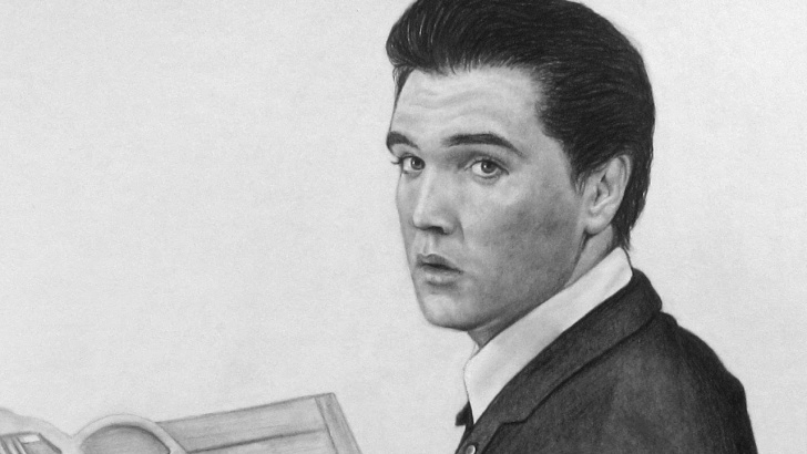 Awesome Pencil Drawing Of Elvis Presley Simple Elvis Presley Pencil Drawing Pictures