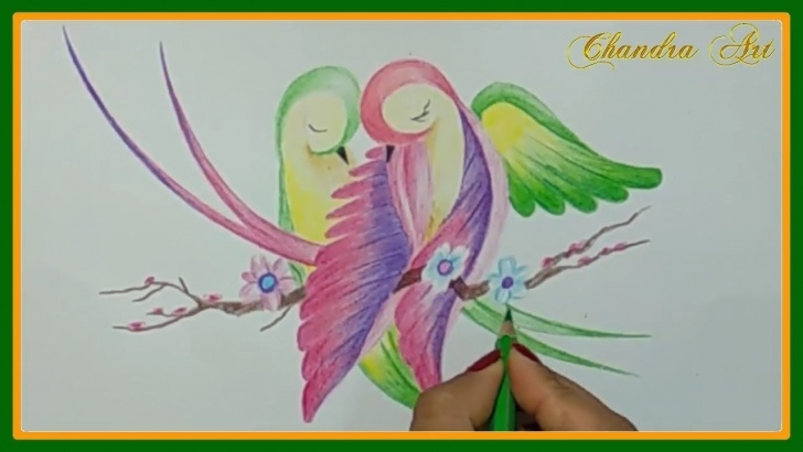 Awesome Pencil Drawing With Colour Lessons Beautiful Color Pencil Drawing | Color Pencil Drawing Love Image