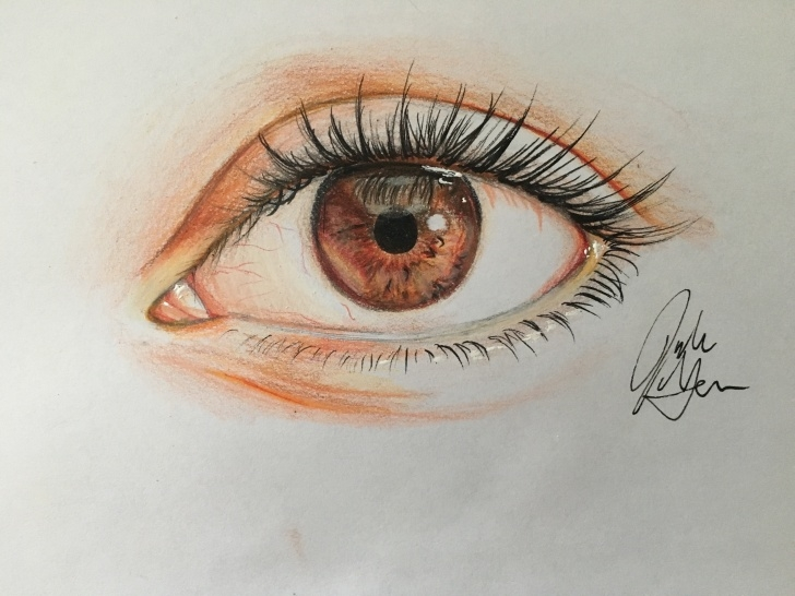 Awesome Pencil Drawing With Colour Simple How To Draw An Eye In Colored Pencil (With Pictures) - Wikihow Picture