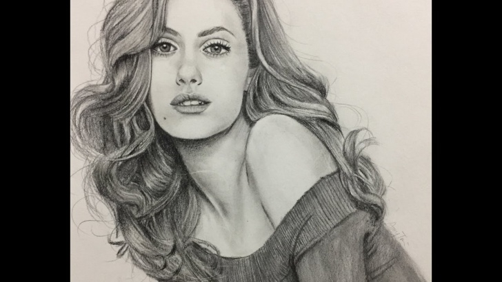 Awesome Pencil Drawing Woman Techniques How To Draw A Realistic Girl With Pencil / 素描 Photo