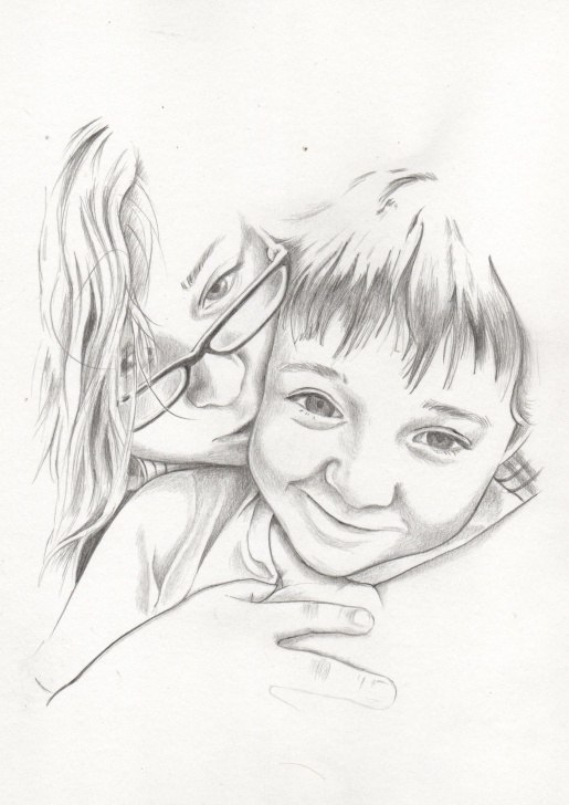 Awesome Pencil Sketch Of Brother And Sister Ideas Pencil Sketch Of Siblings | Print Stuff I've Designed | Sketches Pics