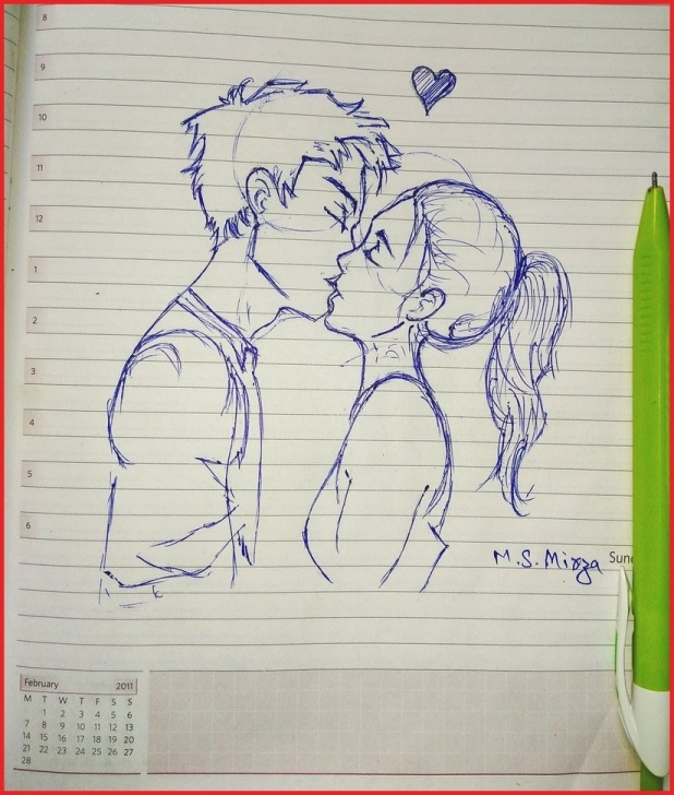 Awesome Pencil Sketch Of Kissing Couple Lessons Kiss Sketch Image At Paintingvalley | Explore Collection Of Kiss Image