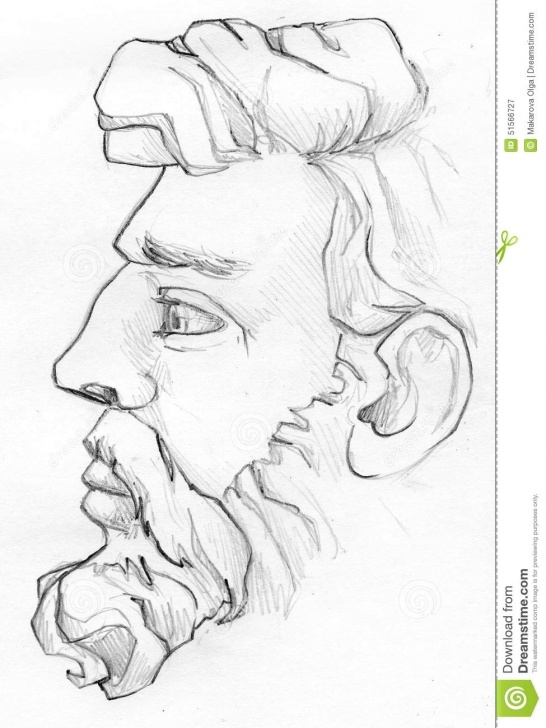 Awesome Pencil Sketch Of Man Free Bearded Man Pencil Sketch Stock Illustration. Illustration Of People Pictures