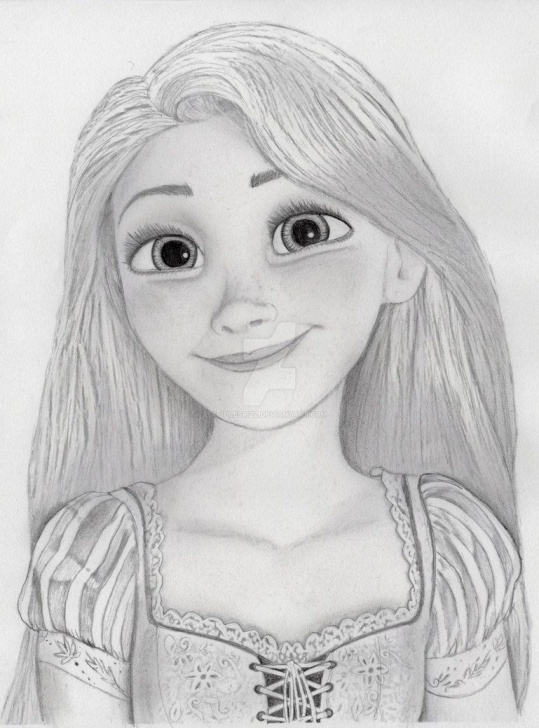 Rapunzel Pencil Drawing