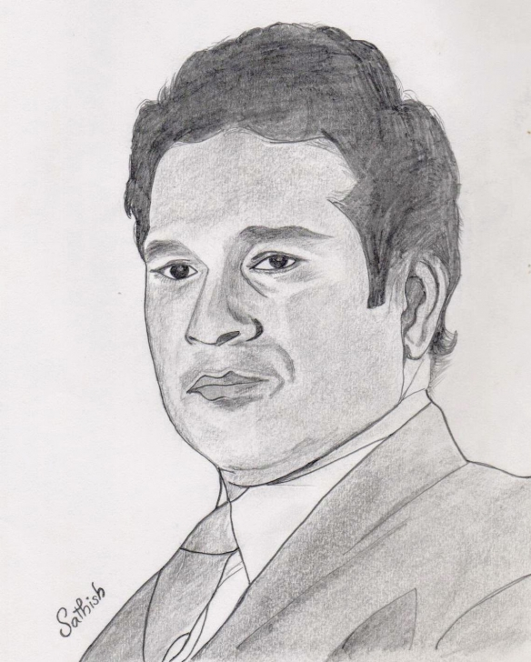 Awesome Sachin Tendulkar Pencil Sketch Easy My Drawing Of Sachin Tendulkar #sachintendulkar #sachin #art #sketch Pic