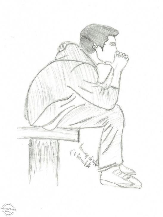 Awesome Sad Boy Pencil Sketch Ideas Sad Boy Sketch At Paintingvalley | Explore Collection Of Sad Boy Pictures