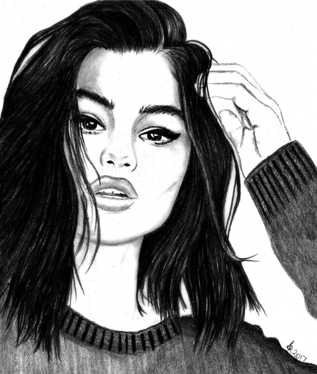 Awesome Selena Gomez Pencil Sketch Simple My Selena Gomez Drawing! | Art In 2019 | Selena Gomez Drawing Picture