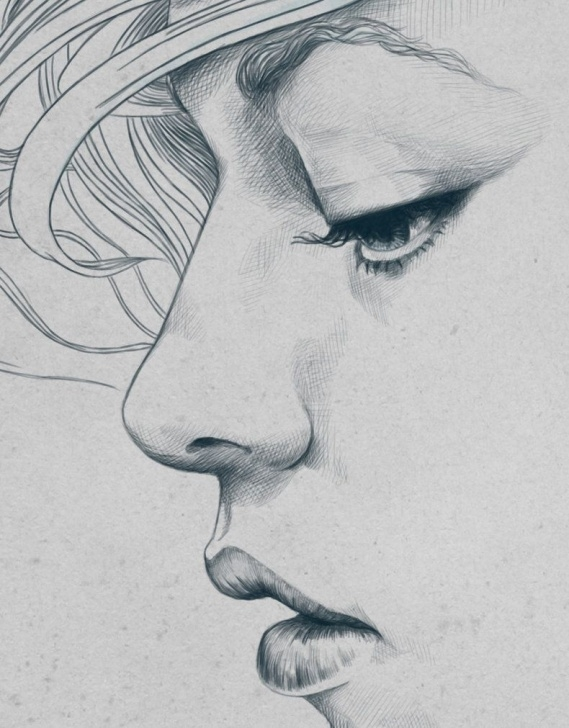 Awesome Side Portrait Drawing Simple Illustrations By Diego Fernandez | Side Profile | Pencil Portrait Picture
