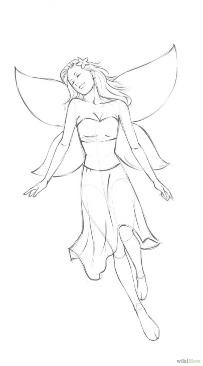 Awesome Simple Pencil Drawings Of Fairies Easy How To Draw A Simple Fairy: 8 Steps (With Pictures) - Wikihow Pictures