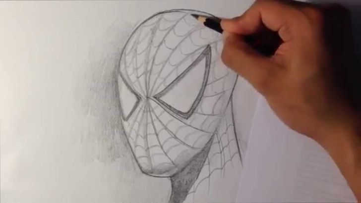 Awesome Spiderman Drawings In Pencil Easy Simple How To Draw Spider-Man In Fine Art Style - Easy Drawings Image