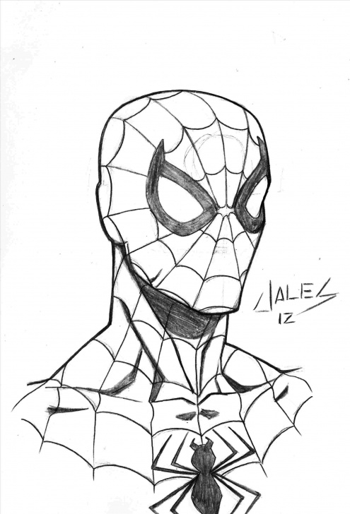 Awesome Spiderman Pencil Art Free Spiderman Pencil Drawing At Paintingvalley | Explore Collection Pictures