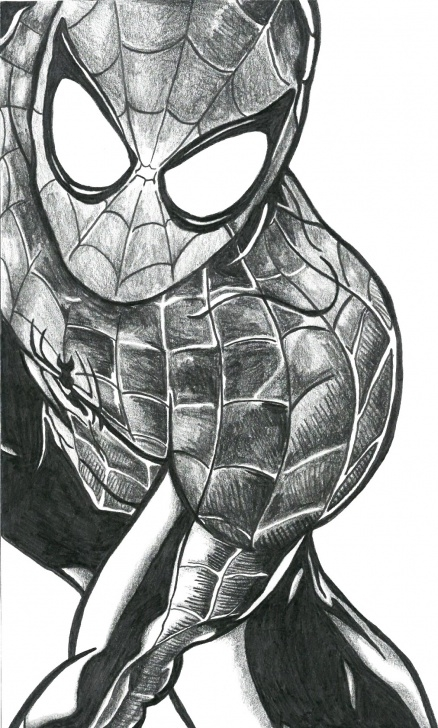 Awesome Spiderman Pencil Drawing Tutorials Spiderman Pencil Sketch At Paintingvalley | Explore Collection Photos