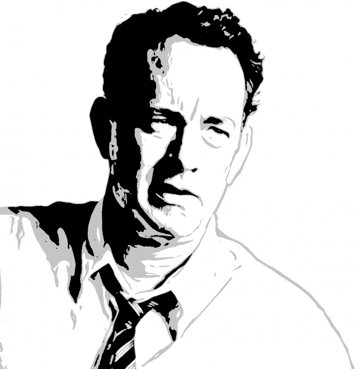 Awesome Stencil Art Drawing Tutorials Tom Hanks | Pop Art In 2019 | Stencil Art, Portrait Art, Portrait Photo