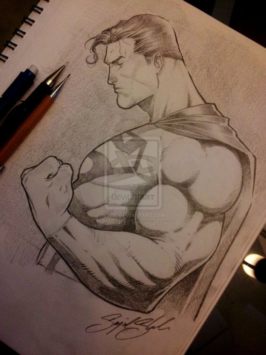 Awesome Superman Pencil Sketch for Beginners Superman Pencil Comission By Sajad126@deviantart | Superman Picture