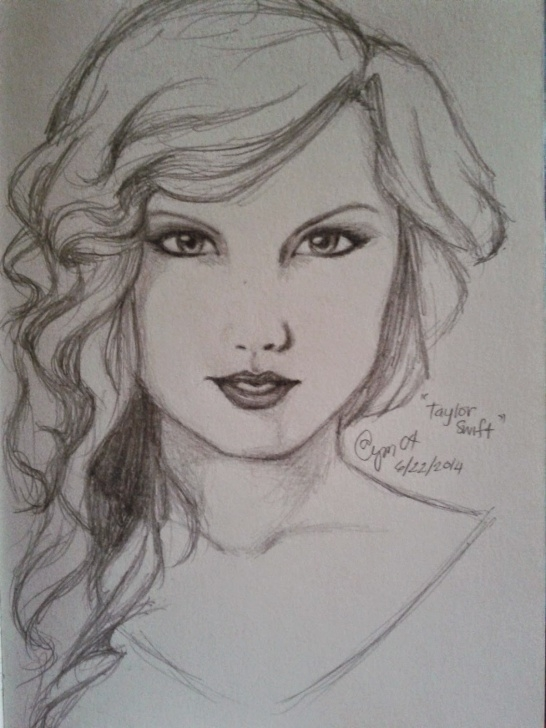 Awesome Taylor Swift Pencil Sketch Tutorial Art] Taylor Swift (Pencil Drawing) | Dandiely ♥ Photos