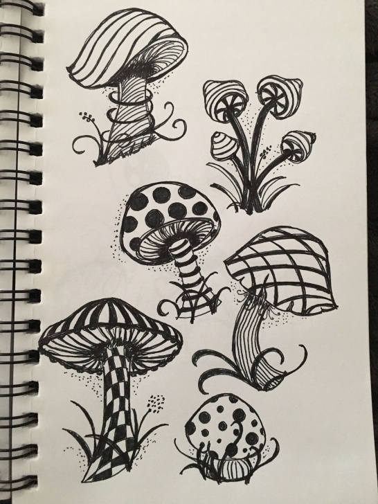 Awesome Trippy Pencil Drawings Techniques Shroom Doodle | Art, Can't Get Enough Of It. In 2019 | Deviantart Pic