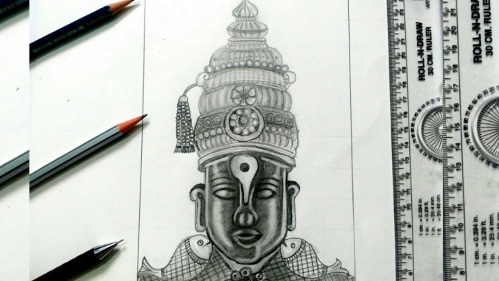 Awesome Vitthal Pencil Sketch for Beginners How To Draw God Vitthal || Simple Drawing By Art4All Pic