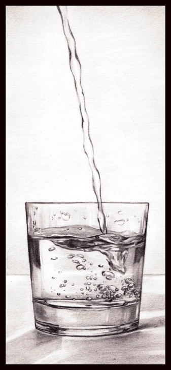 Awesome Water Pencil Drawing Simple A Glass Of Water By Starlightshimmers | Wow!! | Pencil Art, Pencil Images