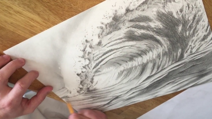 Awesome Wave Pencil Drawing for Beginners Greg Lowman Art: Breaking Ocean Wave Pencil Drawing Images