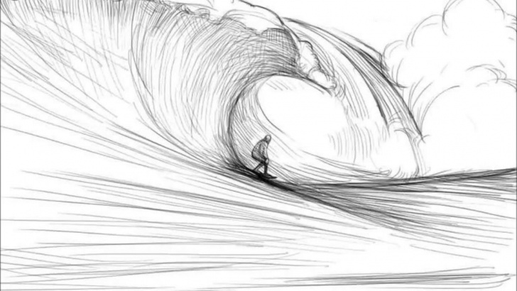 Awesome Wave Pencil Drawing Techniques for Beginners Sketch Waves At Paintingvalley | Explore Collection Of Sketch Waves Pic