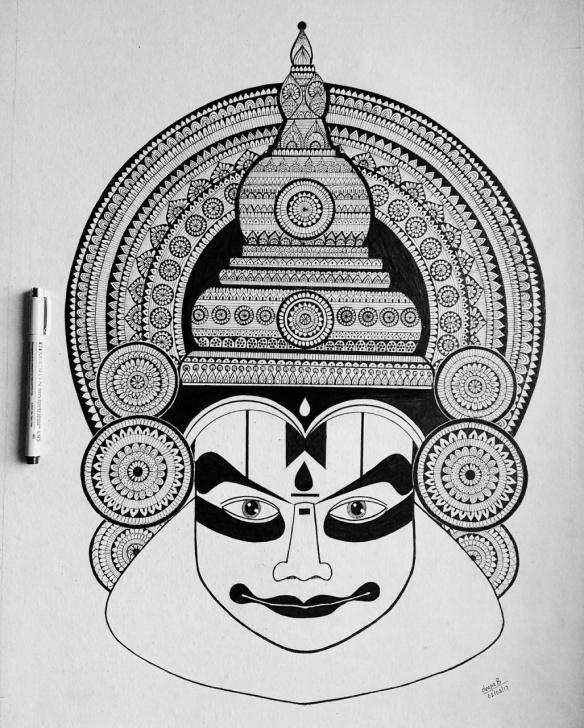 Awesome Yakshagana Pencil Sketch Tutorials Kathakali. By Deepa Balakrishnan Pics