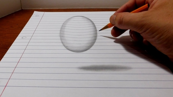 Best 3D Pencil Drawings Easy Tutorials How To Draw A Levitating Ball - Easy 3D Trick Art Pic