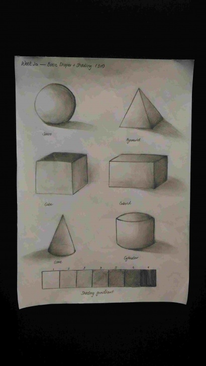 Best 3D Shading Drawing Simple How To Draw 3D Shapes With Shading Shading Drawings Drawing Image