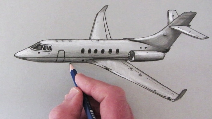 Best Airplane Pencil Drawing Easy 12 Exceptional Plane Drawing Sketch Collection - Sketch - Sketch Arts Picture