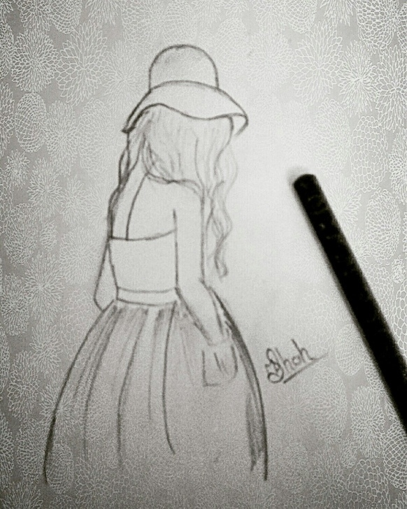 Best Alone Pencil Sketch for Beginners Lonely Girl Drawing   My Drawings ❤ In 2019   Drawings, Sad Image