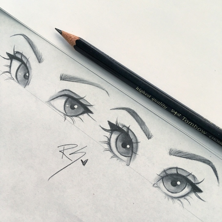 Best Anime Eyes Pencil Simple Eyes Pencil Drawing Art | Sketchy In 2019 | Drawings, Art Sketches Image
