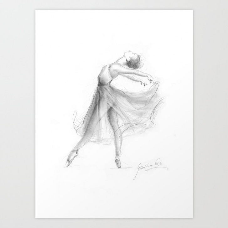 Best Ballerina Pencil Drawing Lessons Ballerina Drawing, Ballet Dancer, Pencil Sketch Art Print Pics