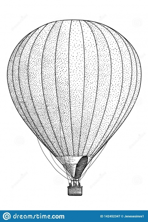 Best Balloon Pencil Drawing Techniques for Beginners Air Balloon Illustration, Drawing, Engraving, Ink, Line Art, Vector Images