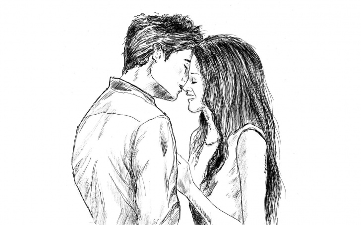 Best Best Couple Sketch Lessons Cute Love Drawings Pencil Art |Hd Romantic Sketch Wallpaper Pics