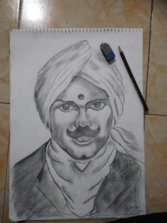 Best Bharathiyar Pencil Drawing Courses Bharathiyar Pics