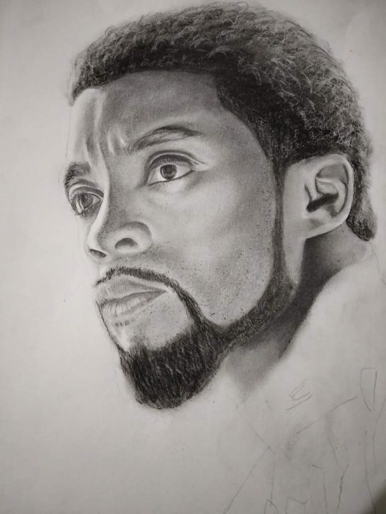 Best Black Pencil Drawing Lessons Pencil Drawing Of Black Panther (Chadwick Boseman) | Arts And Ocs Amino Picture