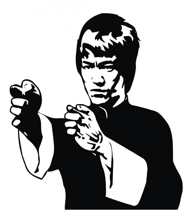 Best Bruce Lee Stencil Art Easy Bruce Lee Vector Free Vector Cdr Download - 3Axis.co Photo