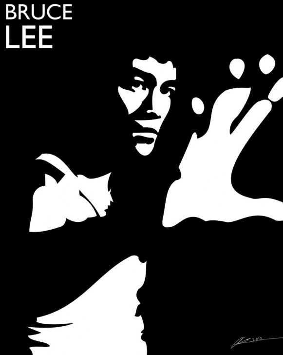 Best Bruce Lee Stencil Tutorials Bruce Lee Stencil | Adobe Photoshop Cs5 I Created This Stenc… | Flickr Pic