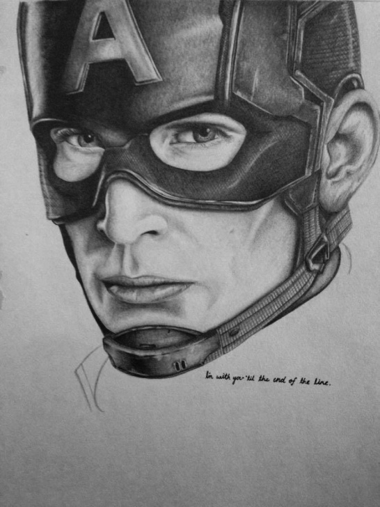 Best Captain America Pencil Sketch Tutorials Captain America, Pencil : Marvelstudios Image