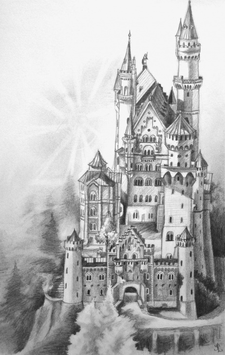 Best Castle Pencil Drawing Ideas Magical Coloring Pages For Adults - Google Search | Outlines Of Photos