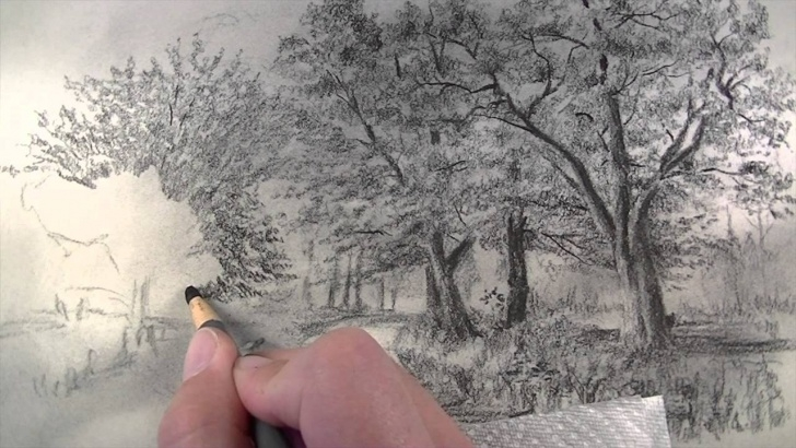Best Charcoal Landscape Sketches for Beginners How To Draw With Charcoal Pencils - Landscape Sketching Photo