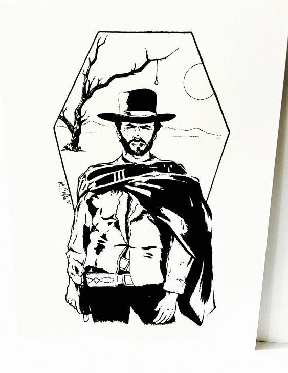 Best Clint Eastwood Stencil Art Ideas Clint Eastwood Drawing | Free Download Best Clint Eastwood Drawing Picture