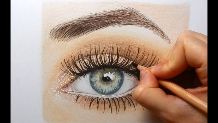 Best Colored Pencil Eye Drawing for Beginners Drawing, Coloring An Eye With Colored Pencils | Emmy Kalia Photo