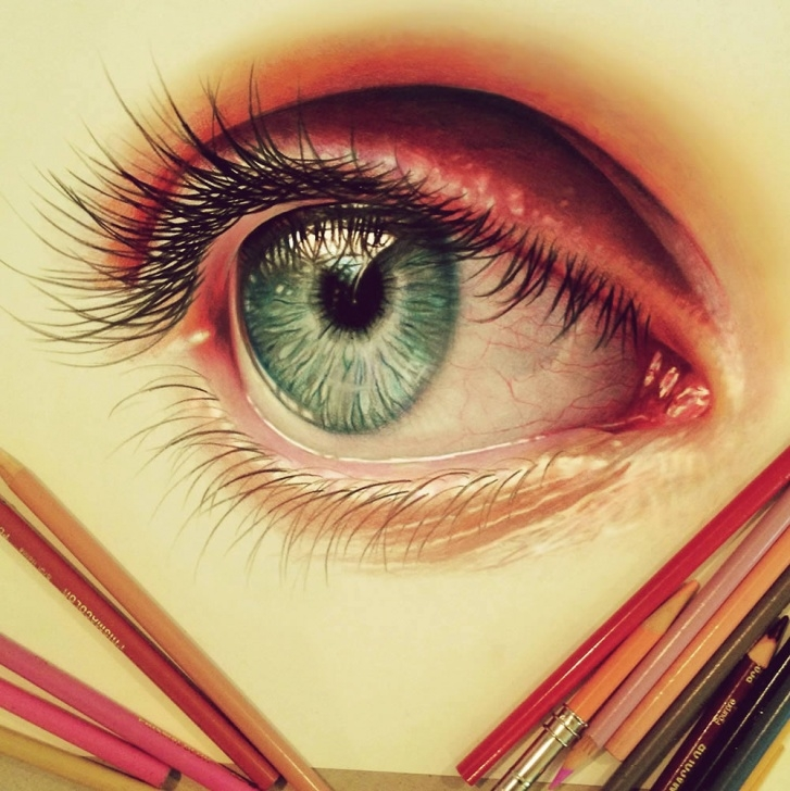 Best Colored Pencil Eye Drawing Tutorials Davidson's Colored Pencil Art | Scene360 Pictures
