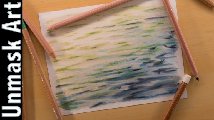 Best Colored Pencil Water Courses Water | Colored Pencil Drawing Time Lapse Pic